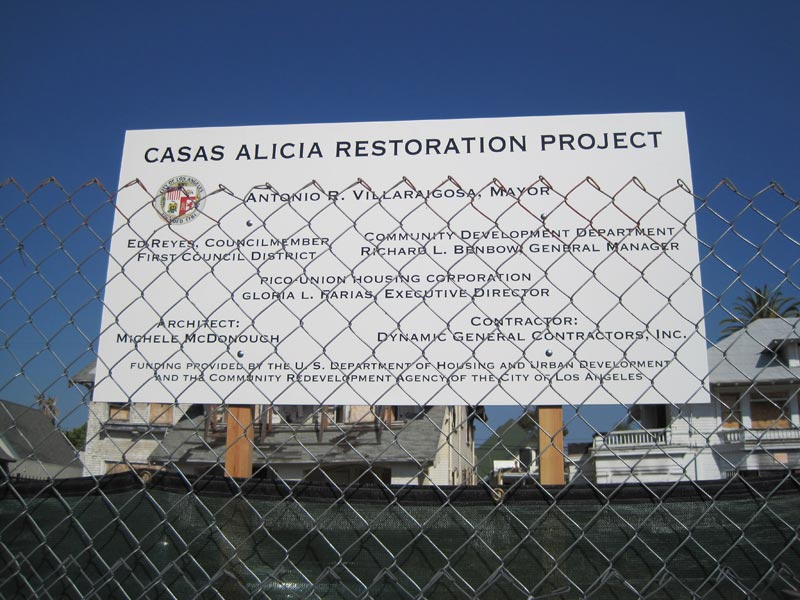 photo of project sign